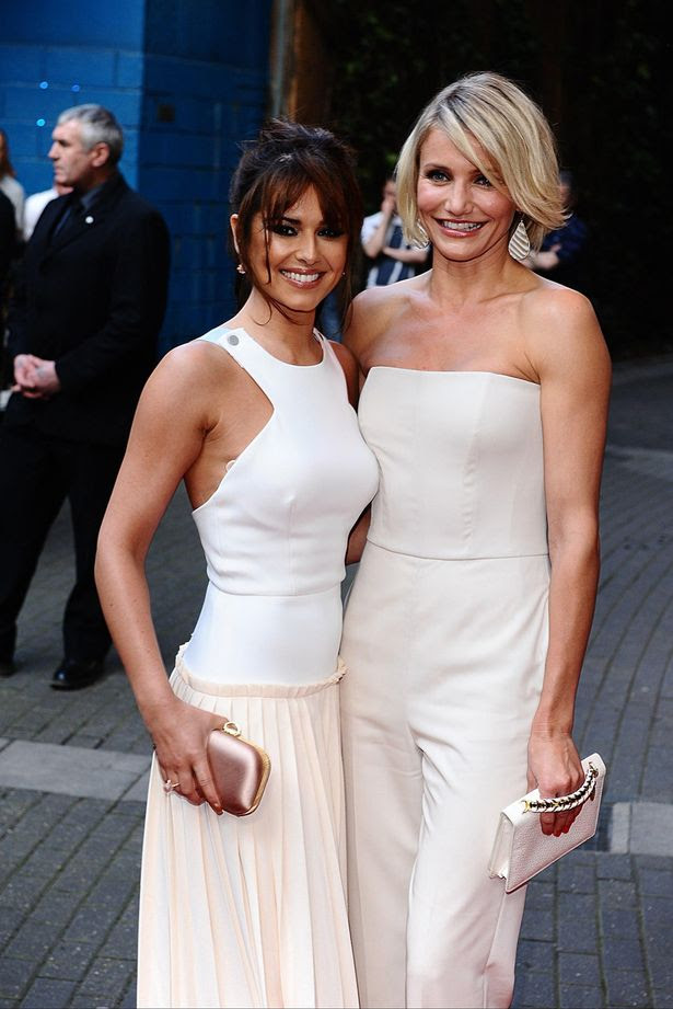 Cheryl Cole (left) and Cameron Diaz arriving for the UK premiere of What To Expect When You're Expecting