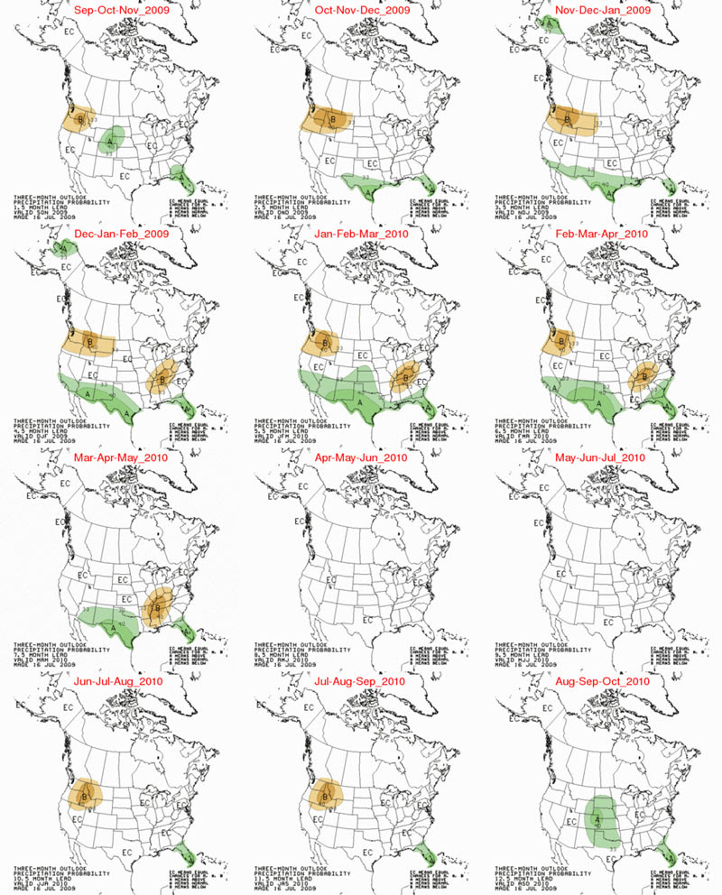 12 Month rainfall predictions