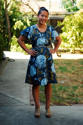 Rosy Date Night Dress Front