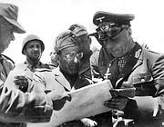 Rommel con il generale italiano Baldassare Calvi a Tobruk