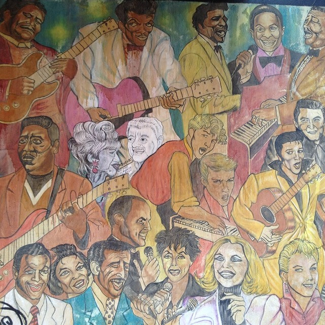 Some of the greats, painted by Rico Fonseca #publicart #nyc #greenwichvillage #streetart