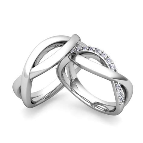 matching wedding bands diamond infinity wedding ring