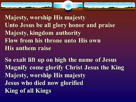 Majesty Worship His Majesty Lyrics Ppt