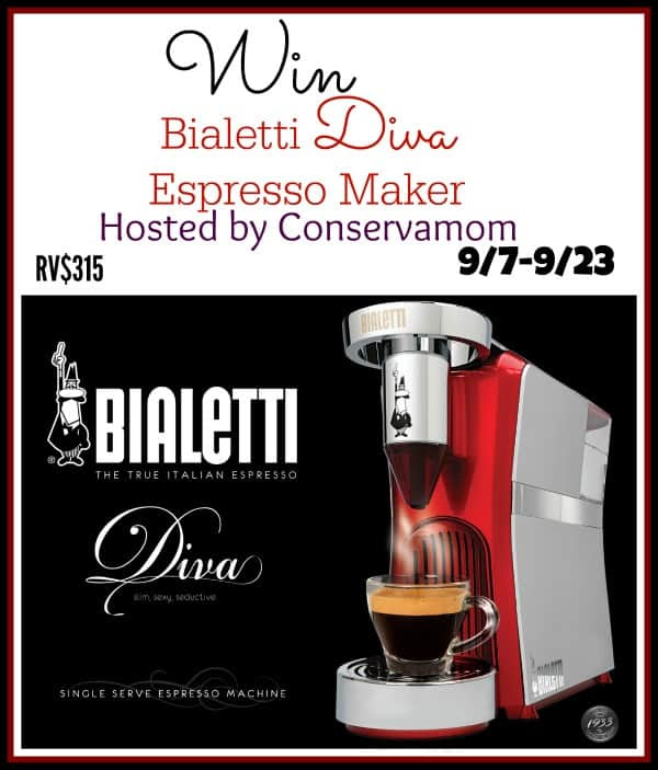 Enter the Bialetti Diva Espresso Maker Giveaway. Ends 9/23.