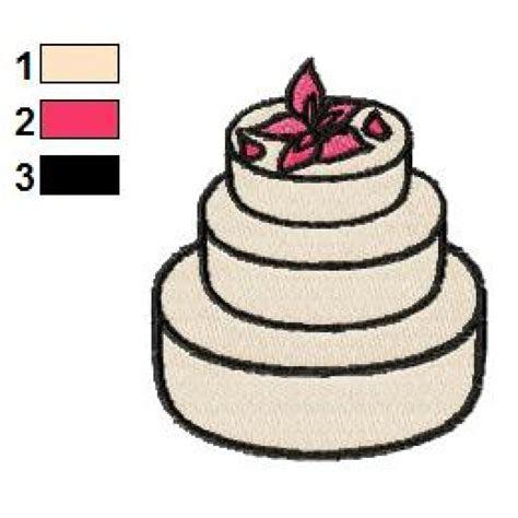 Free Wedding Cake Embroidery Designs