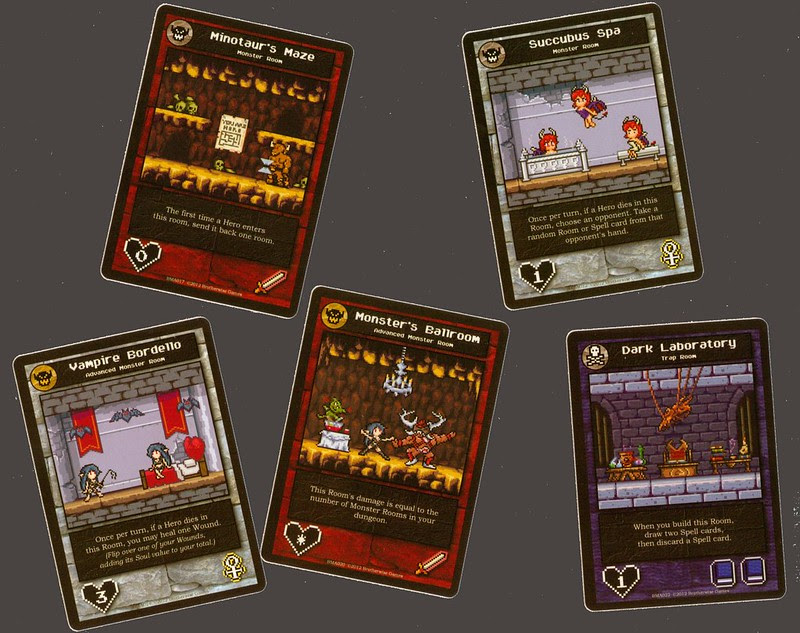 Brotherwise Games Boss Monster Room cards