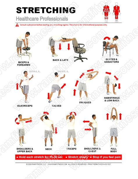 healthcare professional stretches  file