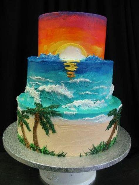 Sunset Cake   CakeCentral.com
