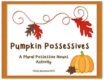 Pumpkin Possessives Plural Possessive Nouns