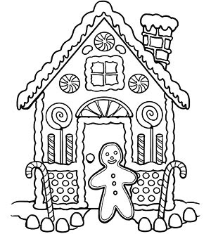 Gingerbread coloring pages | Crafts and Worksheets for ...