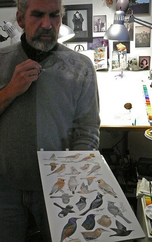 Keith Hansen in his studio