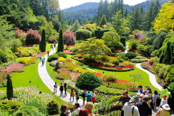 Butchart Gardens Vancouver Island British Columbia Canada