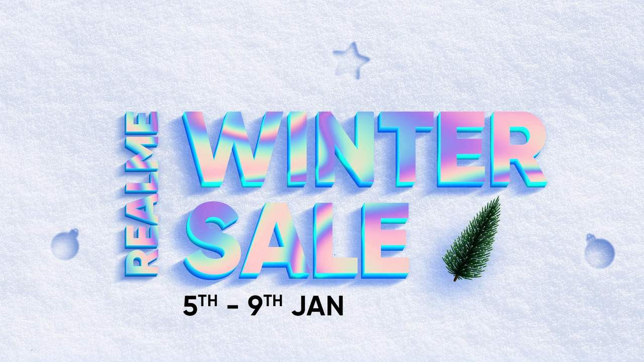Realme Winter sale will end on 9 January.