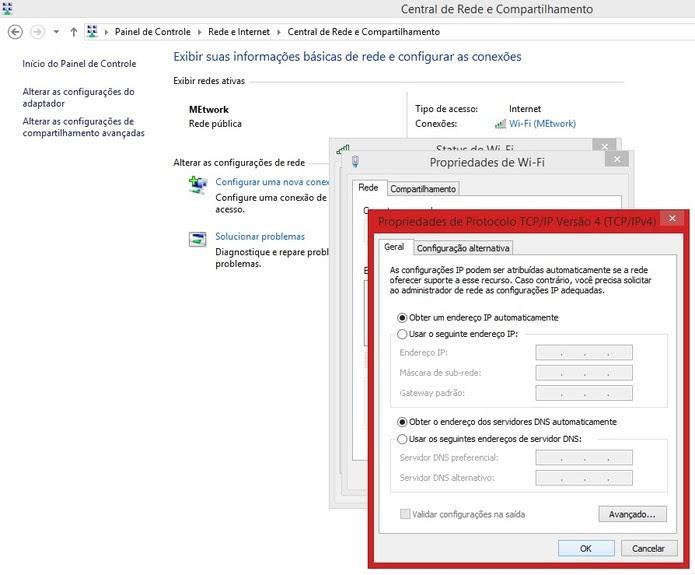 Propriedades de protocolo de rede no Windows 8 (Foto: Reprodução/Marcela Vaz) (Foto: Propriedades de protocolo de rede no Windows 8 (Foto: Reprodução/Marcela Vaz))