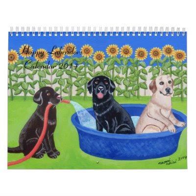 Happy Labradors Calendar 2014