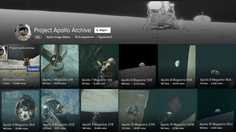 El archivo de los viajes a la Luna de la NASA está disponible en Flickr