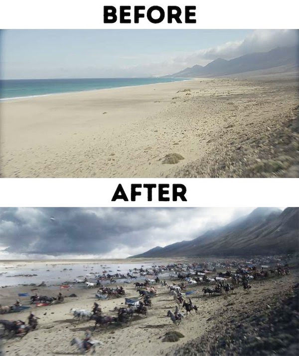 8 - 30 before and after special effects scenes