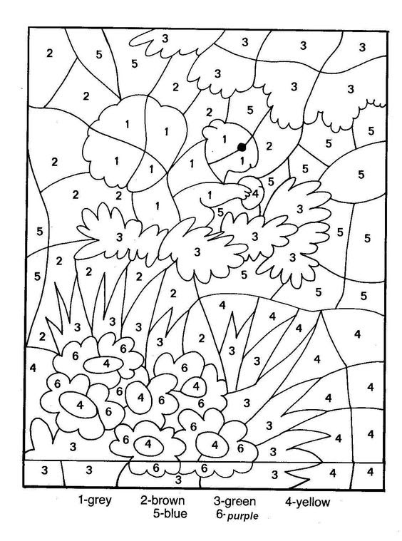 Free Printable Color by Number Coloring Pages - Best ...