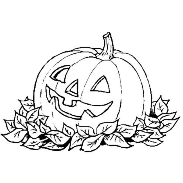 Disegno Di La Zucca Di Halloween Da Colorare Per Bambini