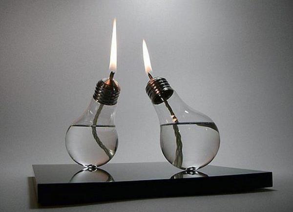 украшение из лампочек