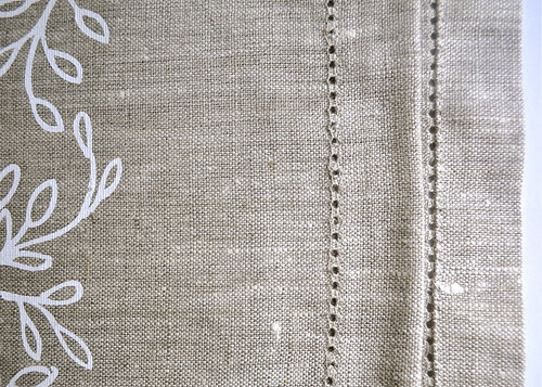 hemstitch tea towel