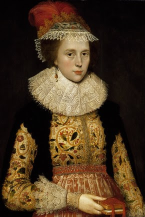 Oil portrait of Margaret Laton, probably by Marcus Gheeraerts the Younger, about 1620, probably London, England, UK. Museum no. E.214-1994