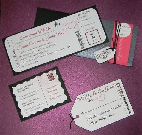 Reserve Listing for Kat C  Airline Ticket Invitations