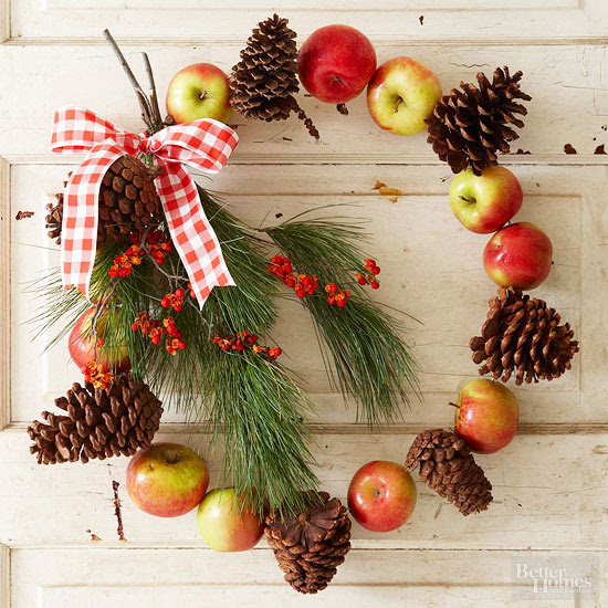 Apples and Pinecones Wreath