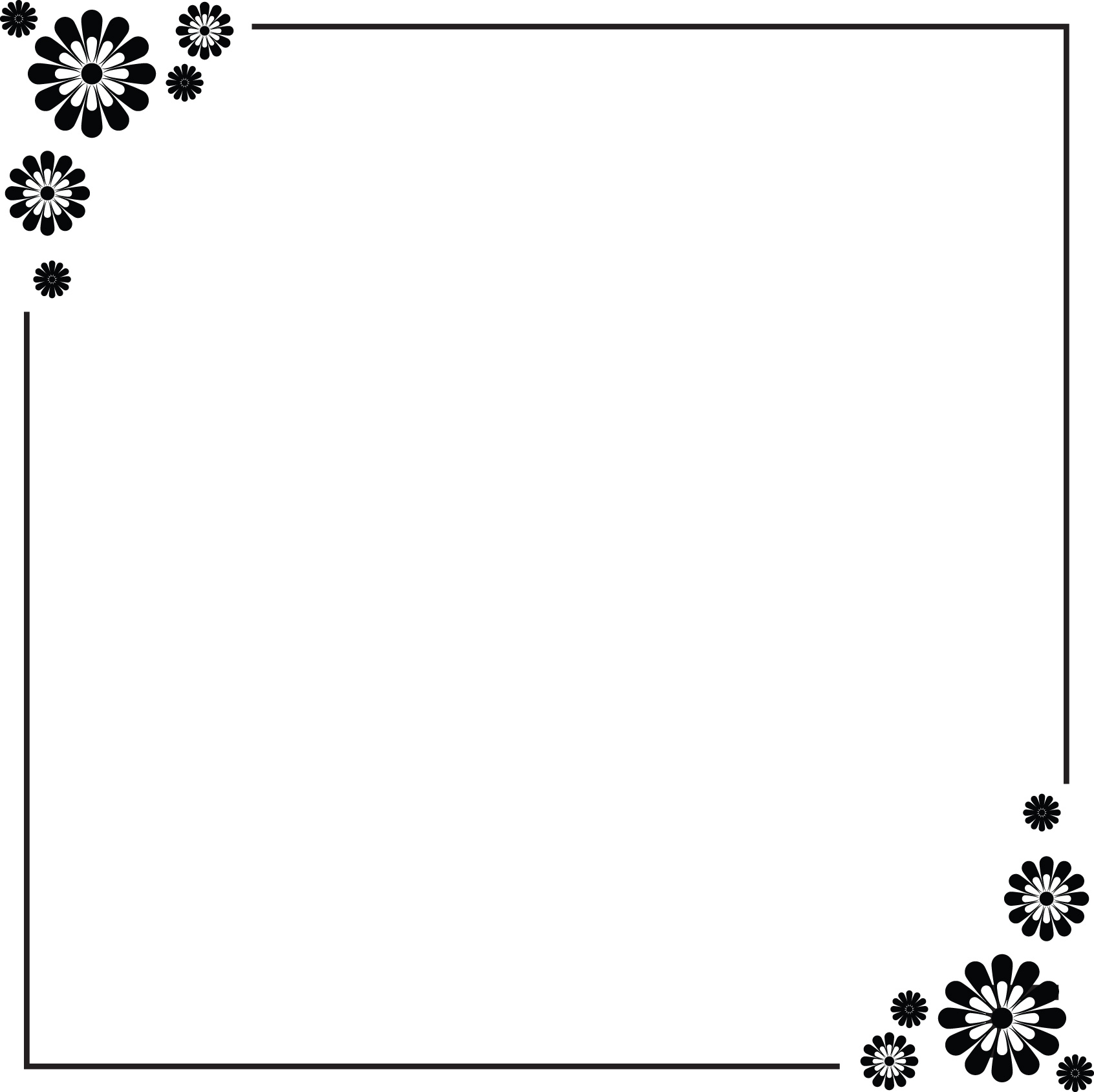 15 Simple Border Designs For Paper Images Simple Decorative Border