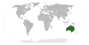 Locator map for Australia