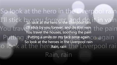 liverpool rain racoon lyrics youtube