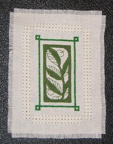 Olive Leaf Miniature Cross Stitch