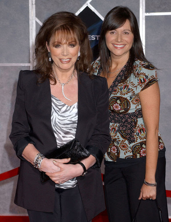 Jackie Collins with eldest daughter Tiffany