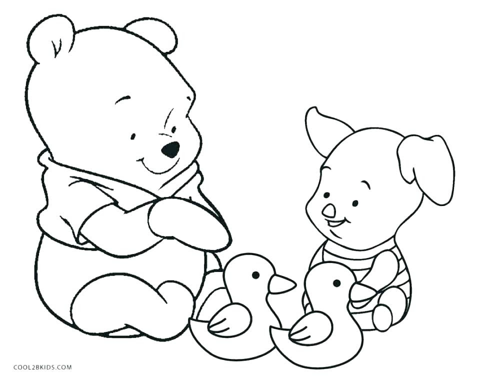 Pooh Bear And Piglet Coloring Pages - Coloring And Drawing