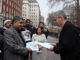 WSC Chairmen Dr Haleem Bhatti  Present Memorendom for Dr Safdar Sarki's Release
