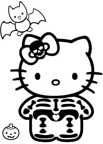 Hello Kitty Zombie Coloring Pages Coloring And Drawing