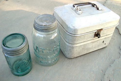 jars and miner's pail