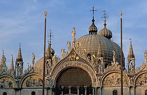 St. Mark's Cathedral in Venice, where the Gabr...