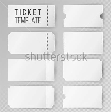 36  Blank Ticket Templates   Free PSD, AI, Vector EPS