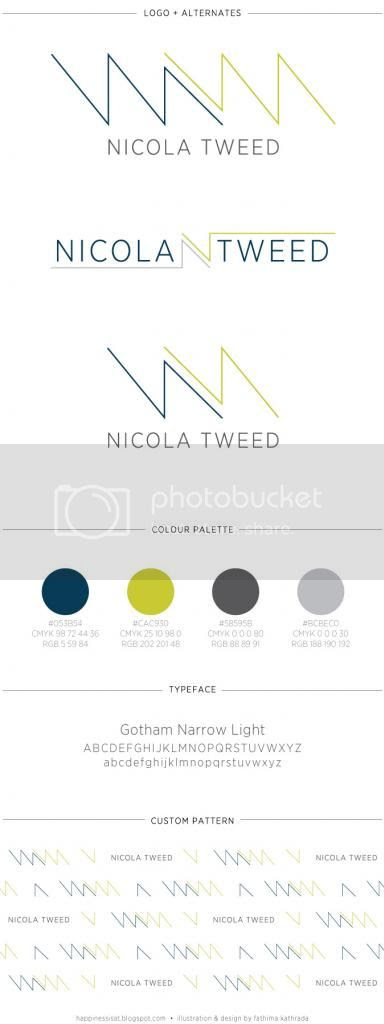 Brand Guide for Nicola Tweed, by fathima kathrada illustration and design
