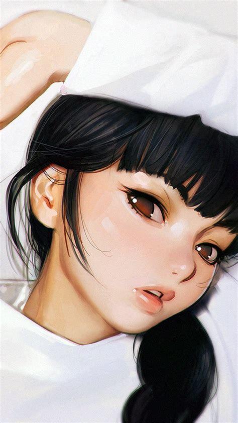aw ilya kuvshinov anime girl shy cute illustration art
