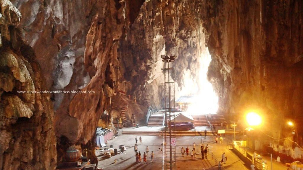 Inside Batu Caves.