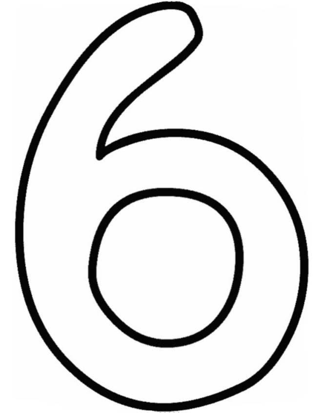 Numero 6 Da Colorare Stampae Colorare