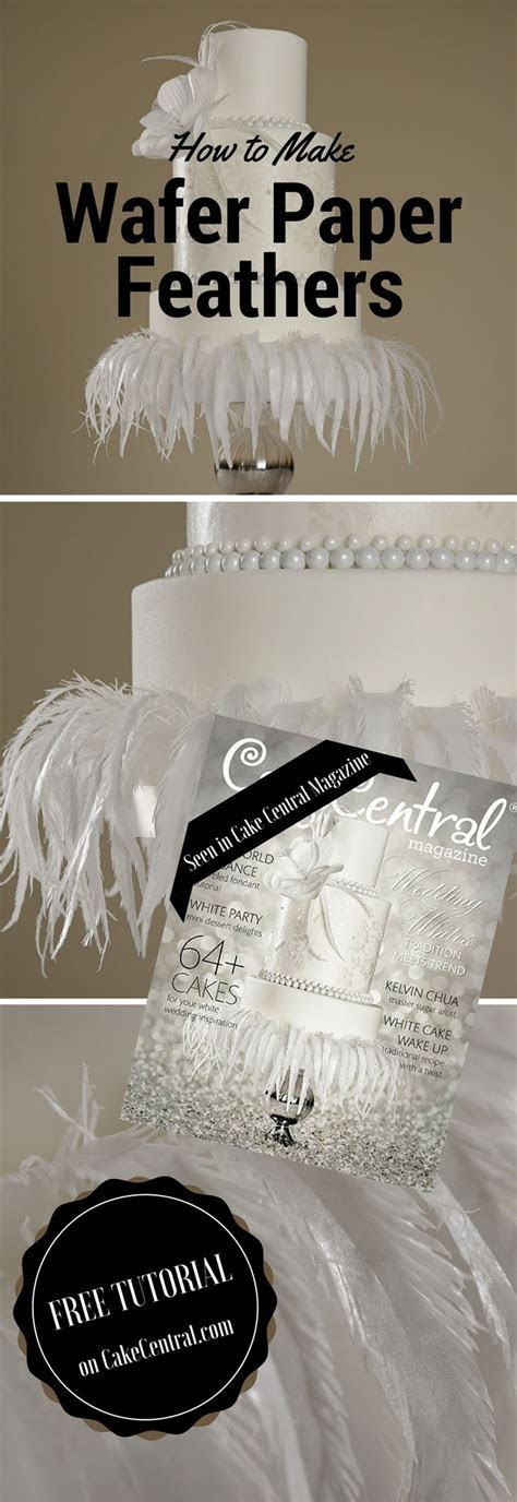 Wafer Paper Feathers   CakeCentral.com