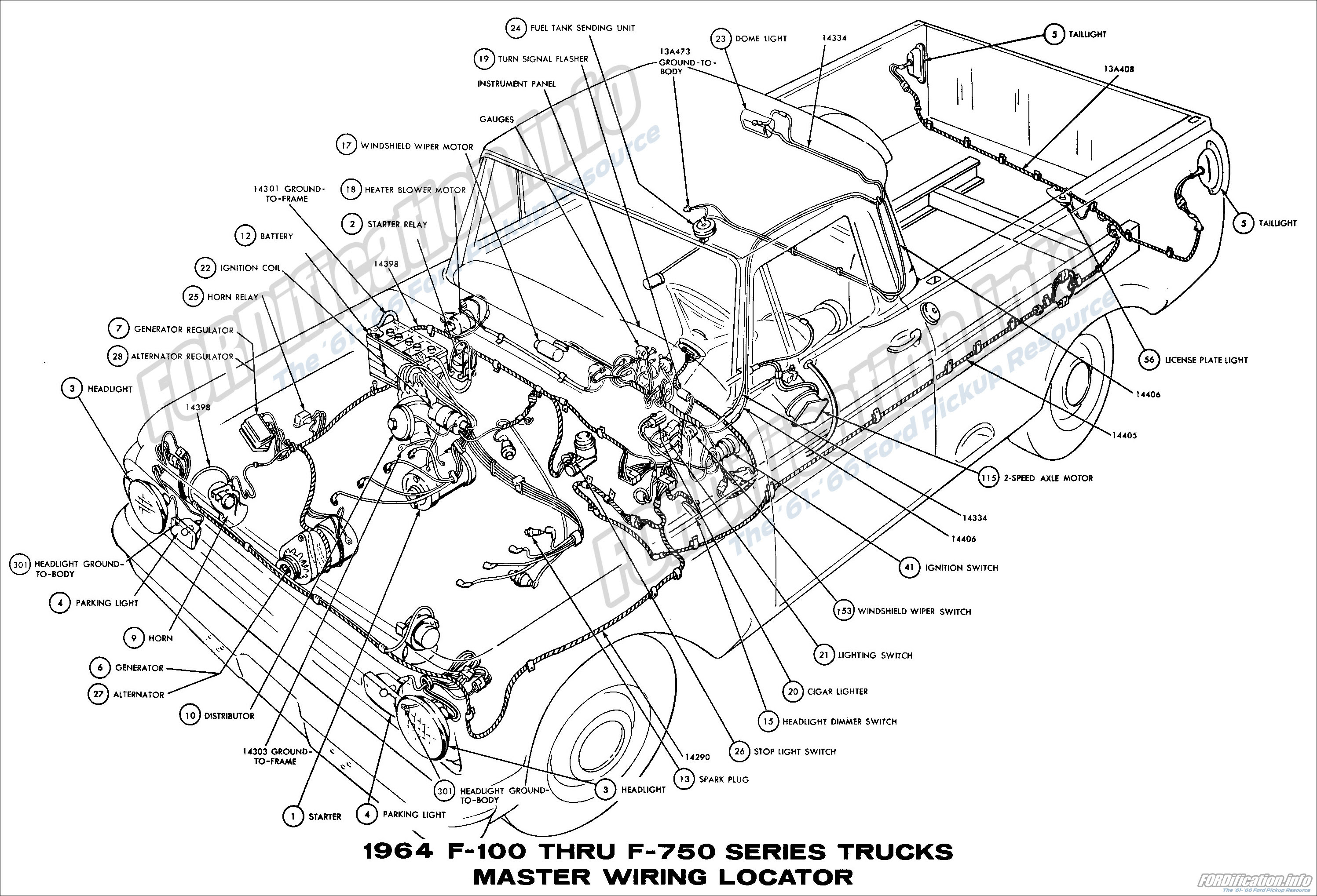 View 1954 Ford Truck Headlight Switch Diagram Pictures
