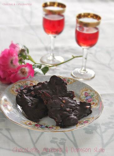 Chocolate, Almond & Damson Slab 4