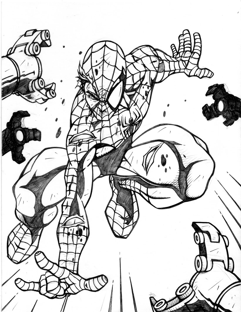 Spiderman Coloring Pages For Kids at GetColorings.com ...