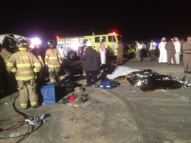وفاة 11 مقيمًا وإصابة 14 في حادث سير بـ #الأحساء (3)