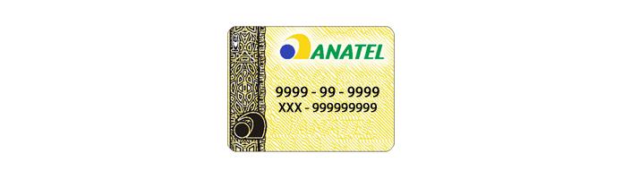 Selo da Anatel segue este modelo (Foto: Reprodução/Ececards)