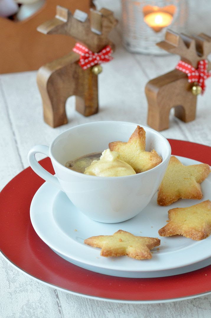 Affogatto With Shortbread Biscuits